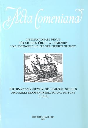 publikace Acta Comeniana 17