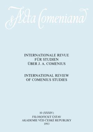 publikace Acta Comeniana 10