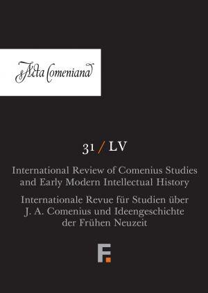 obálka publikace Acta Comeniana 31