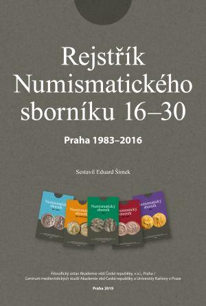 publikace Rejstřík Numismatického sborníku 16-30